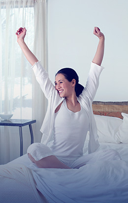 Happy Woman Waking Up